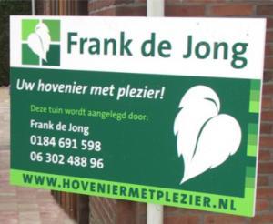 Frank de Jong hovenier